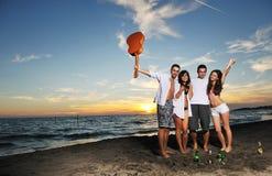Réception de plage Images stock
