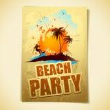 Réception de plage illustration de vecteur