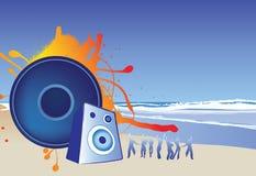 Réception de plage illustration stock