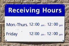 Réception des heures et du temps Photo libre de droits