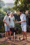 Réception en plein air de BBQ Image stock