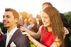 Réception en plein air de mariage Images libres de droits