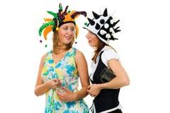 réception ensemble deux femmes Images stock