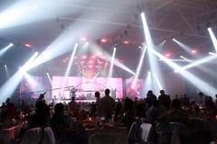 Réception grande avec le concert Photographie stock