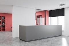 Réception grise dans le bureau blanc illustration libre de droits