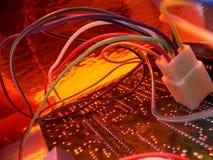 Réception orange #2 de technologie de fil Images stock