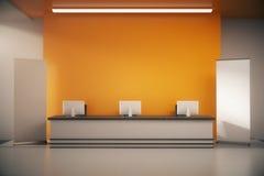 Réception orange illustration stock