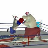 Réception politique - boxe 2 illustration stock