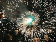 Réception populaire de feux d'artifice Images libres de droits