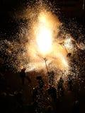 Réception populaire de feux d'artifice Image libre de droits