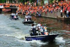 Réception pour l'équipe de football hollandaise image stock