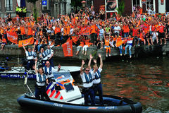 Réception pour l'équipe de football hollandaise photos stock