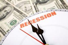 Récession économique Photographie stock libre de droits