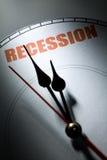 Récession économique Images stock