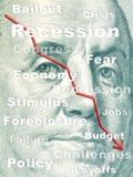 Récession Image libre de droits