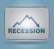 Récession - concept de busines Photographie stock