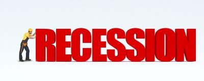 Récession d'enjeu d'ouvrier manuel Photographie stock libre de droits