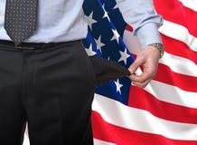 Récession en Amérique Image stock