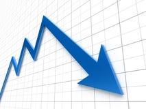 récession financière illustration libre de droits