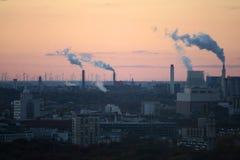 réchauffement global de pouvoir de centrales de concept Photos stock
