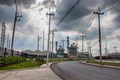 réchauffement global de pouvoir de centrales de concept Image libre de droits