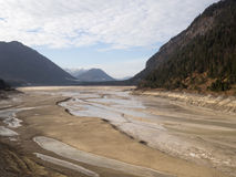 Réchauffement global : rivière desséchée Image stock