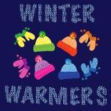 Réchauffeurs de l'hiver Photos stock
