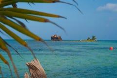 Récif artificiel en île de San Andres Photo stock