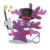 Récif coralien pourpre de magicien la mascotte de forme illustration libre de droits