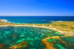 Récif d'antenne d'île de Rottnest photo libre de droits