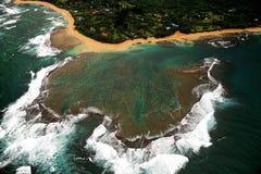 Récif de côte de Napali, Kauai, Hawaï Images libres de droits