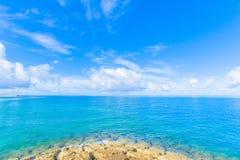 Récif et mer de vert vert Photographie stock libre de droits