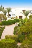 récif luxueux d'hôtel de l'Egypte de club Photos stock