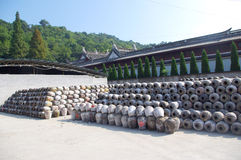 Récipient chinois de vin Photo stock