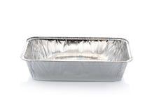 Récipient d'aluminium images stock