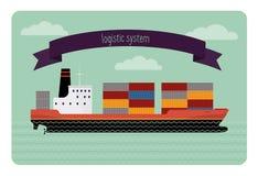 Récipient de bateau-citerne Image libre de droits