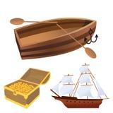 récipient de bateau de pirate d'ordinateur de secours de corsaire illustration libre de droits