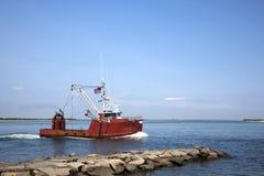 Récipient de pêche professionnelle Photo stock
