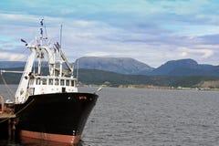 Récipient de pêche professionnelle Images libres de droits