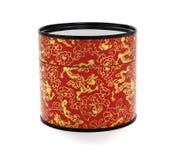 Récipient de papier floral oriental Photographie stock