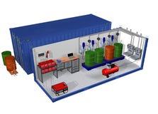 Récipient de service d'entrepôt Image stock