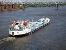 récipient de transport de bateau d'industrie de fret Images stock