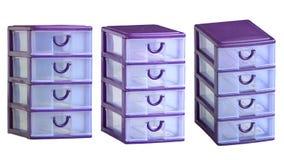 Récipient en plastique de Cabinet de tiroirs Photo stock