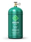 Récipient industriel liquéfié de gaz d'argon Image libre de droits