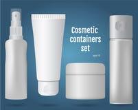 Récipients cosmétiques réglés Photographie stock