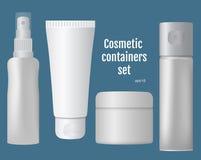 Récipients cosmétiques réglés illustration libre de droits