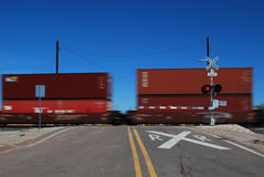 Récipients d'expédition de chemin de fer Photographie stock libre de droits