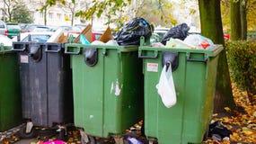 Récipients de déchets Photo libre de droits
