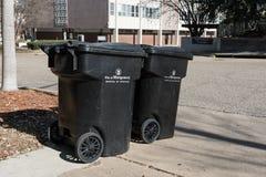 Récipients de déchets de Montgomery City Photos libres de droits