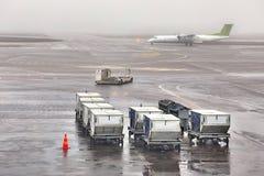 Récipients de fret aérien Photo libre de droits